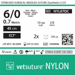 NYLON met 0.7 - USP 6/0 -...